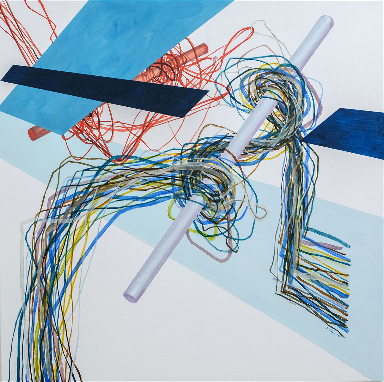 Untitled II, Acrylic, on canvas, 100 x 100 cm, 2019, Athens