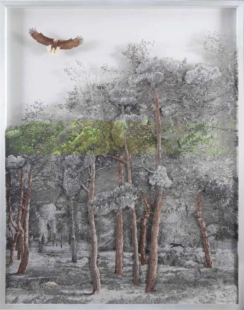 Giorgos Avgeros, Untitled, 2016, mixed media, 120 x 100 cm
