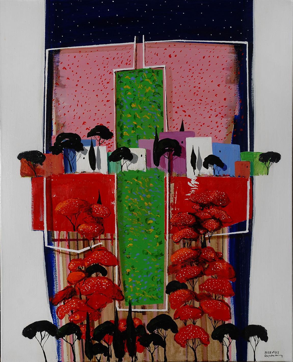 Vassilis Karakatsanis, The Unknown Land, 2011, acrylics & oil on canvas, 100 x 80 cm