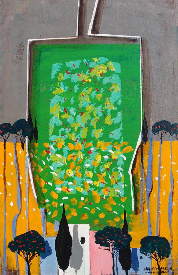 Vassilis Karakatsanis, The Unknown Land, 2007, acrylics & oil on canvas, 60 x 40 cm