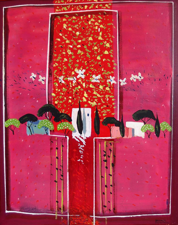Vassilis Karakatsanis, The Unknown Land, 2006, acrylics & oil on canvas, 100 x 80 cm