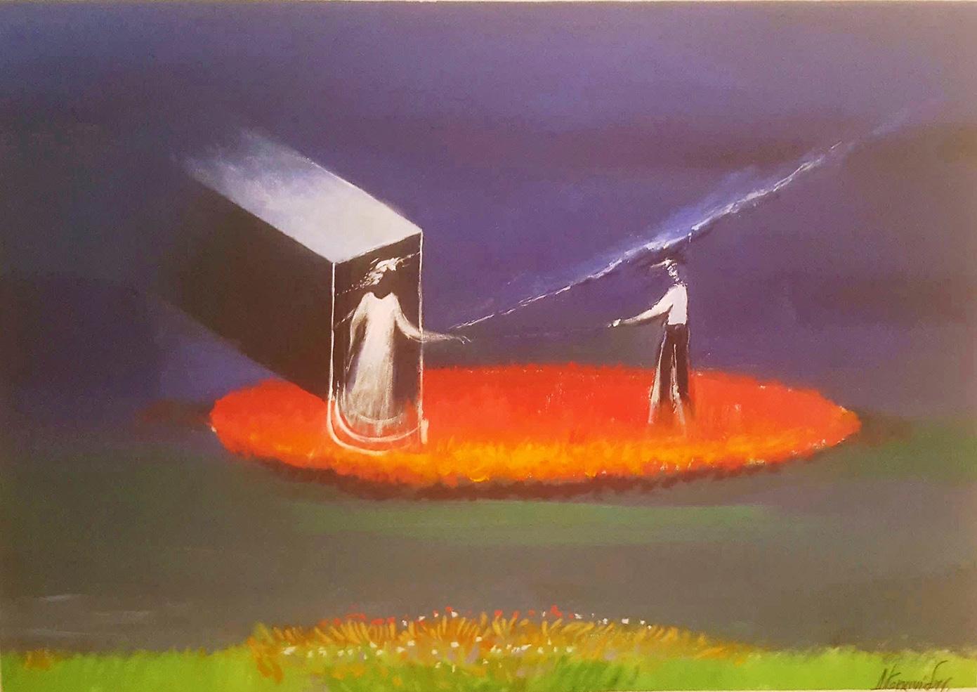 Dimosthenis Kokkinidis, Untitled, acrylics on canvas, 104 x 74 cm
