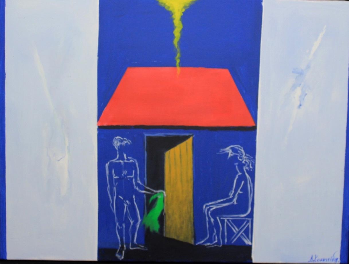 Dimosthenis Kokkinidis, Untitled, acrylics on canvas, 85 x 65 cm