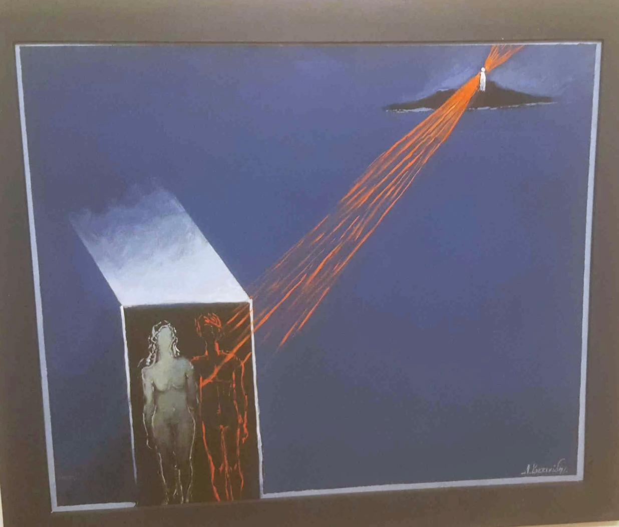 Dimosthenis Kokkinidis, Untitled, acrylics on canvas, 60 x 70 cm