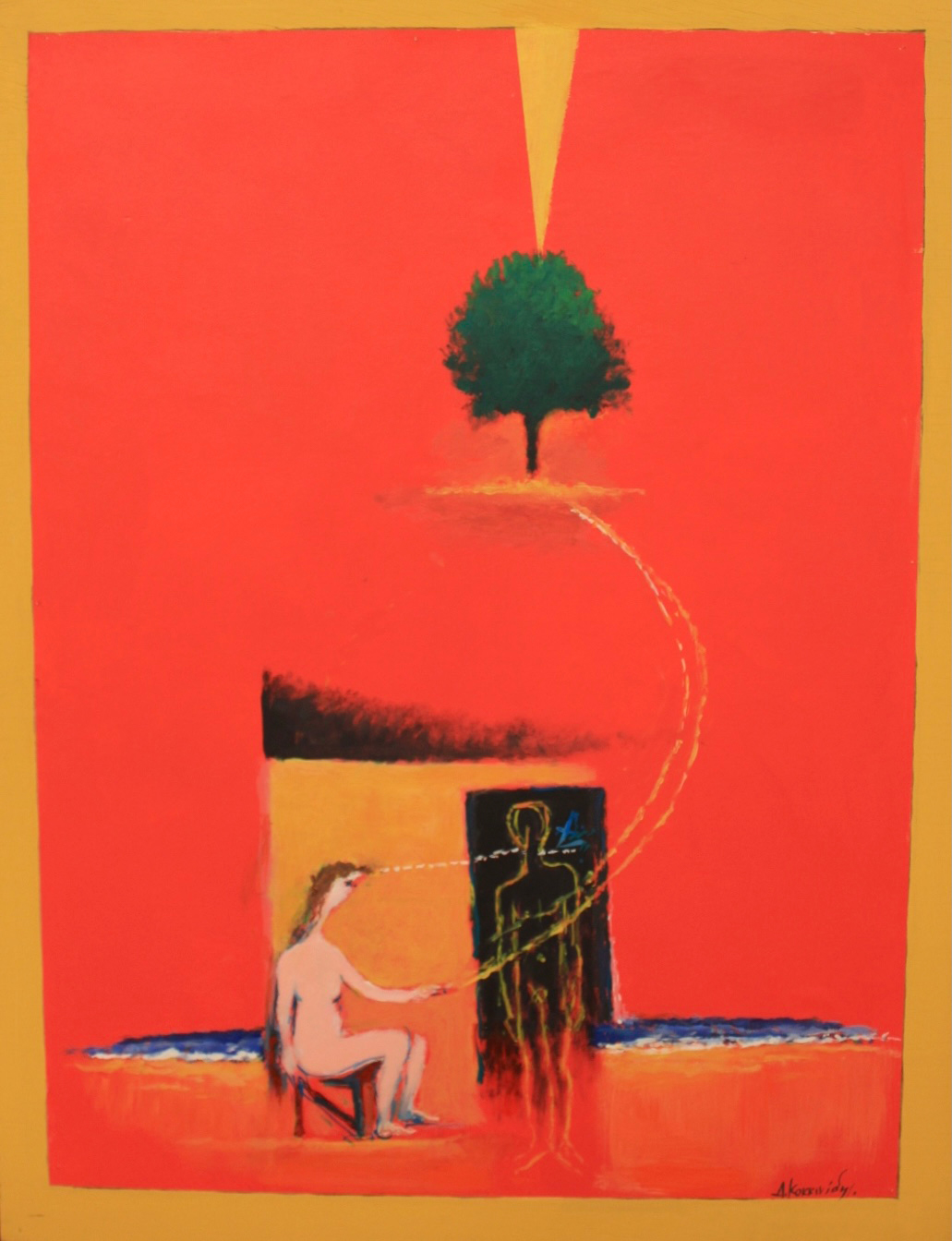 Dimosthenis Kokkinidis, Untitled, acrylics on canvas, 109 x 85 cm