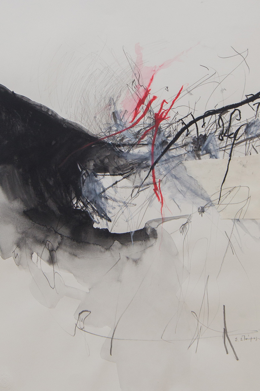 Stergios Stamos, Untitled IV, 2013-20, acrylics and pencil on paper, 48 x 35 cm