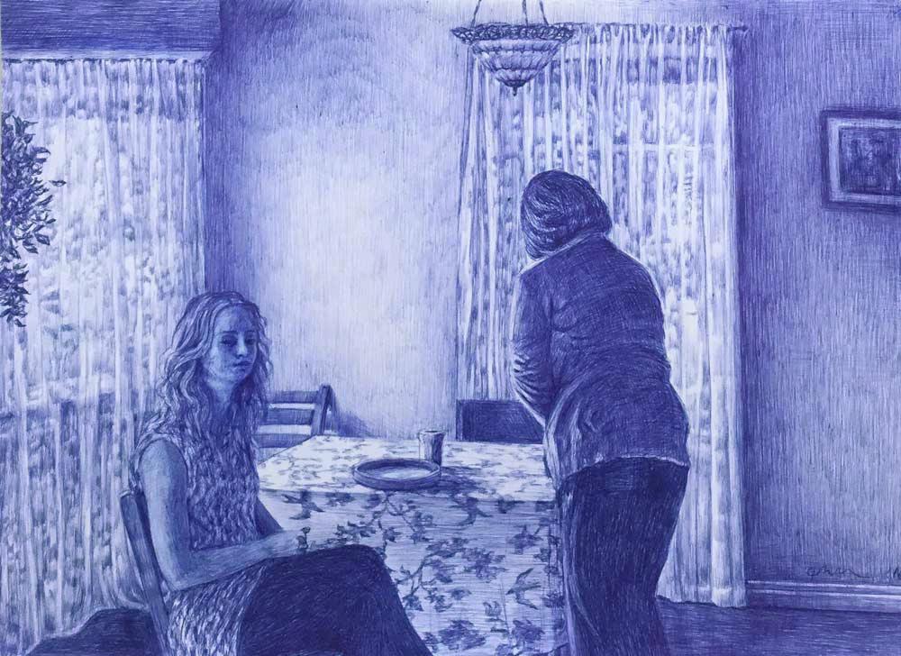 Mantalina Psoma, Untitled, pen on paper, 29 x 40 cm, 2016