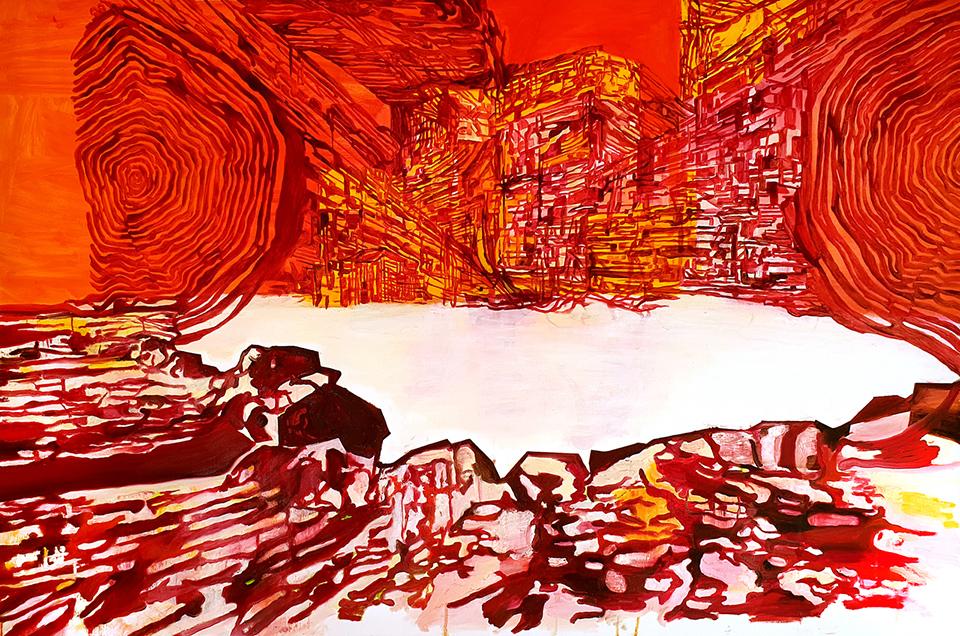 George Kazazis, Untitled, oil on canvas, 100 × 150 cm, 2019