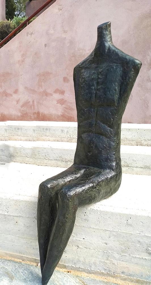 Nektarios Kontovrakis, Male Figure, copper, 110x35x20cm, 2020