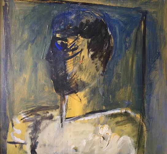 Nektarios Kontovrakis, Portrait of a Man, acrylics on canvas, 62x62cm, 2007