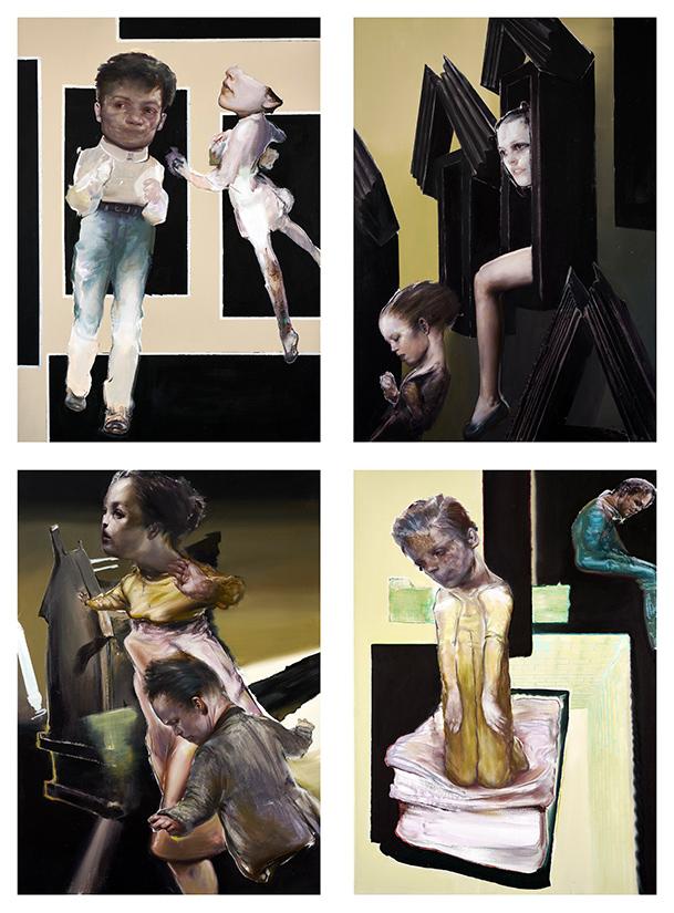 Tassos Missouras, Untitled, acrylic and oil on canvas, 70x50 cm each, 2020