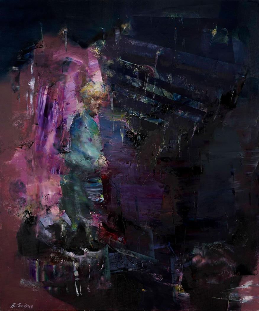 Vassilis Soulis, Untitled, oil on canvas, 120x100 cm, 2020