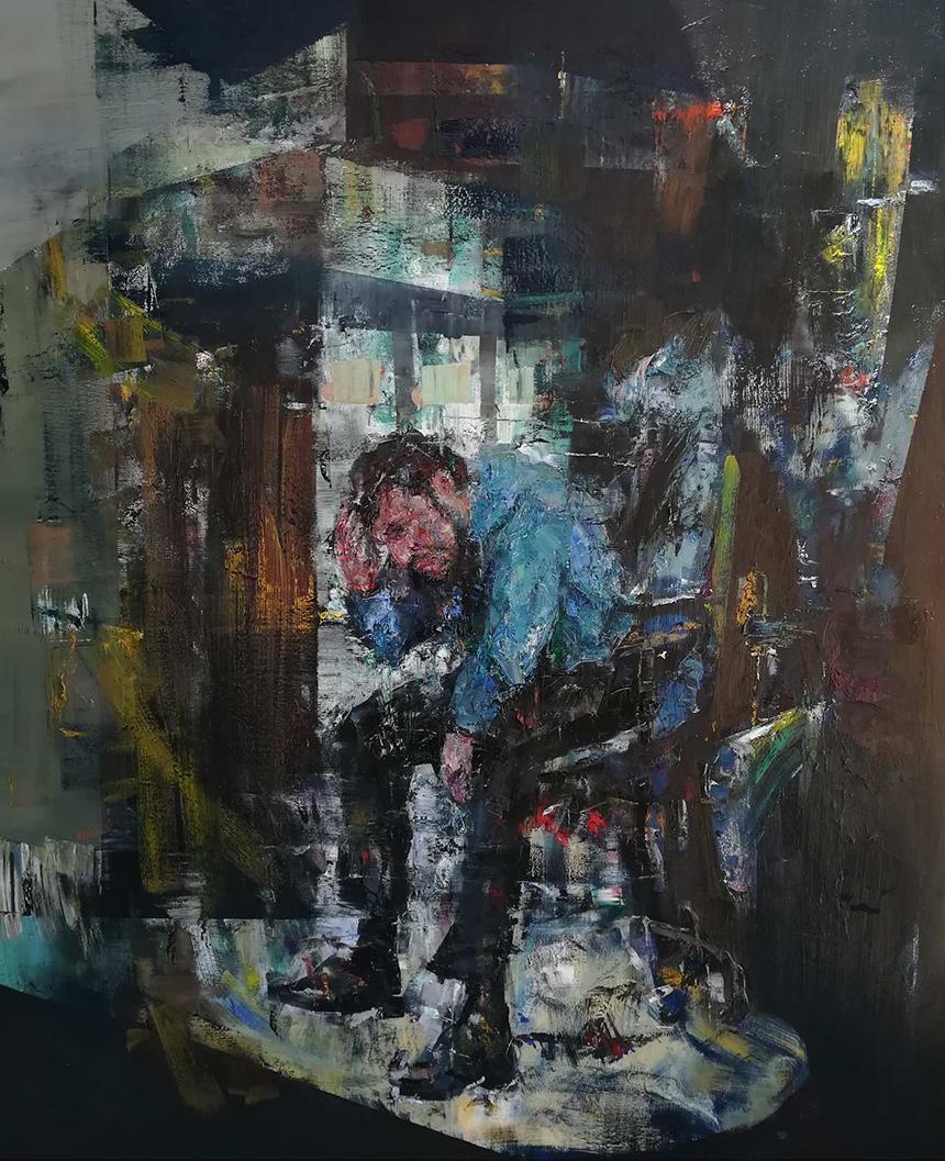 Vassilis Soulis, Untitled, oil on canvas, 2020