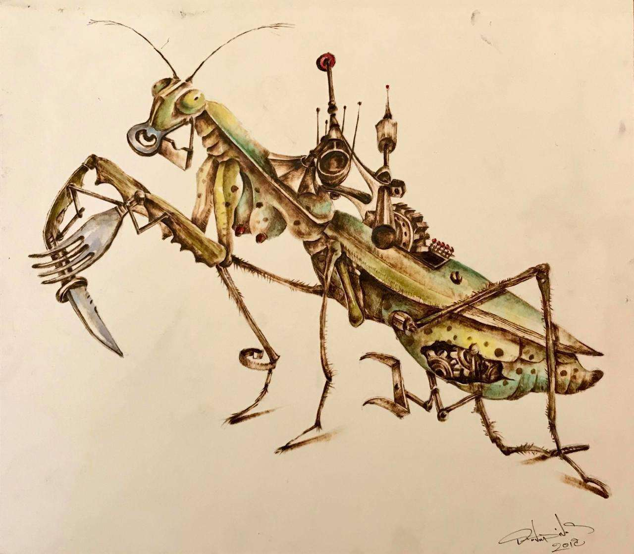 Vaggelis Theodoridis, Mantis Diligitis The Common, 25 x 35 cm