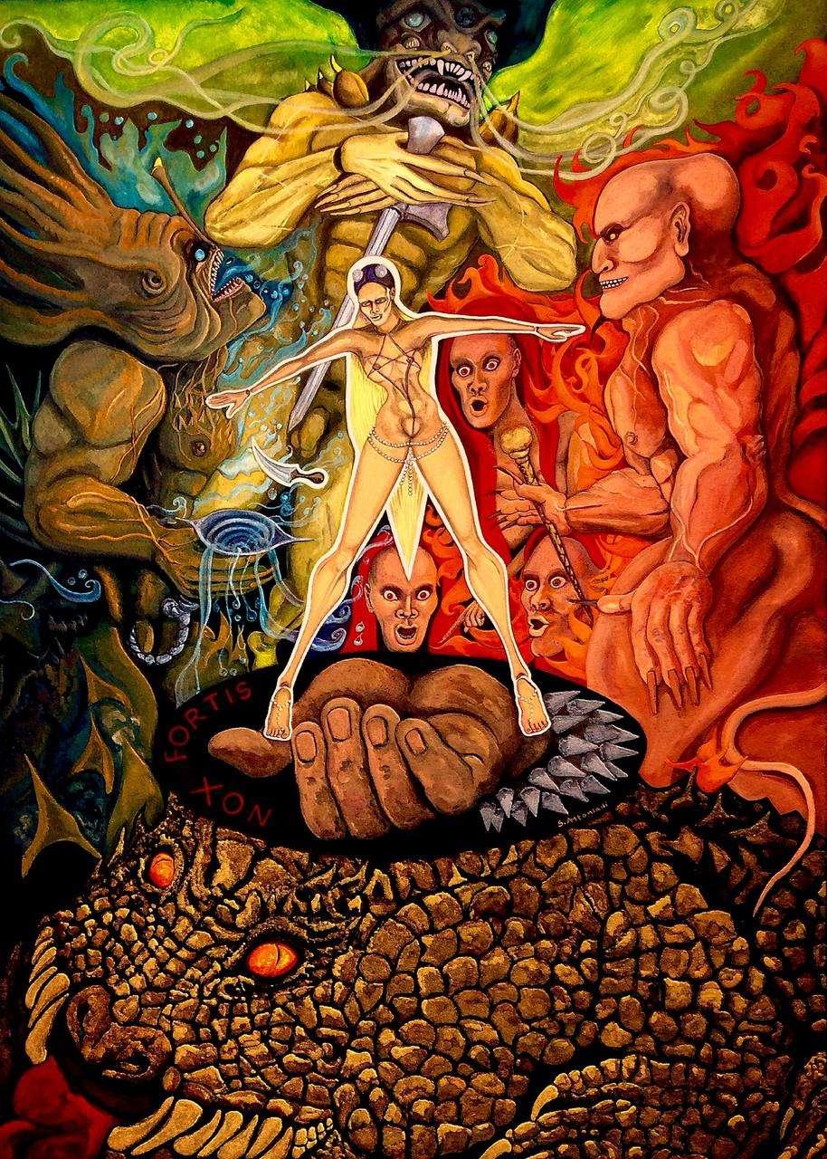 Sylvia Antoniadi, Οr tutti sorgete ministri infernali (Macbeth) 70 x 50 cm