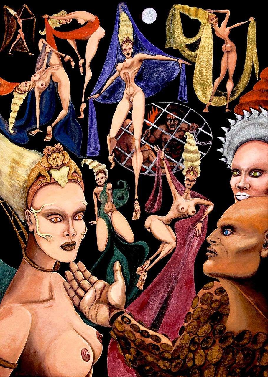 Sylvia Antoniadi, Was willst du haben? Sprich! (Salome) 70 x 50 cm