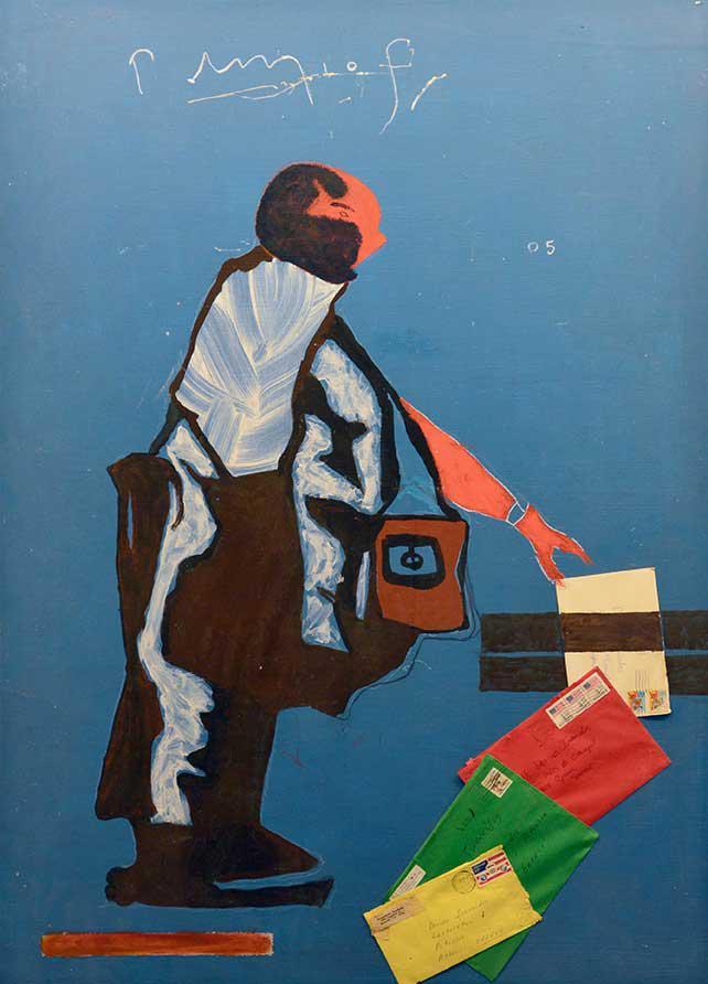 Yorgos Milios, Untilted, acrylics on canvas, 104 x 76 cm, 2003