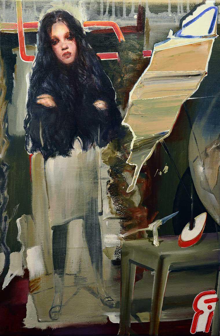Tassos Missouras, Untitled, oil paint on canvas, 60 x 40 cm, 2015