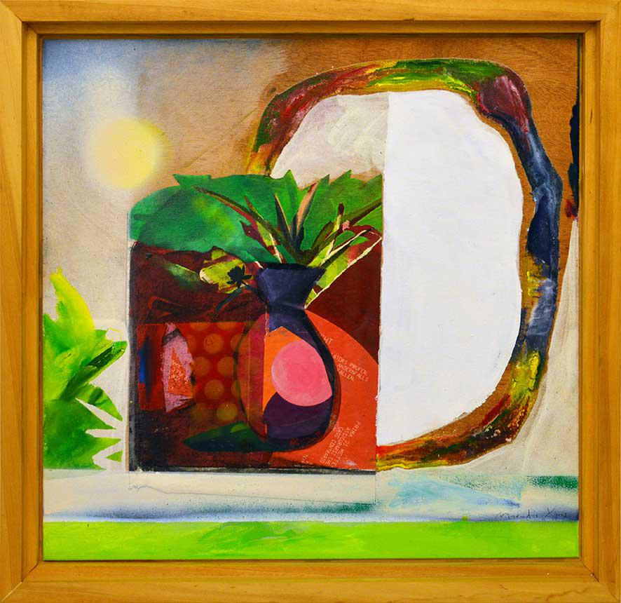 Manolis Charos, Untitled, acrylics on canvas, 56.5 x 56.5 cm, 2015