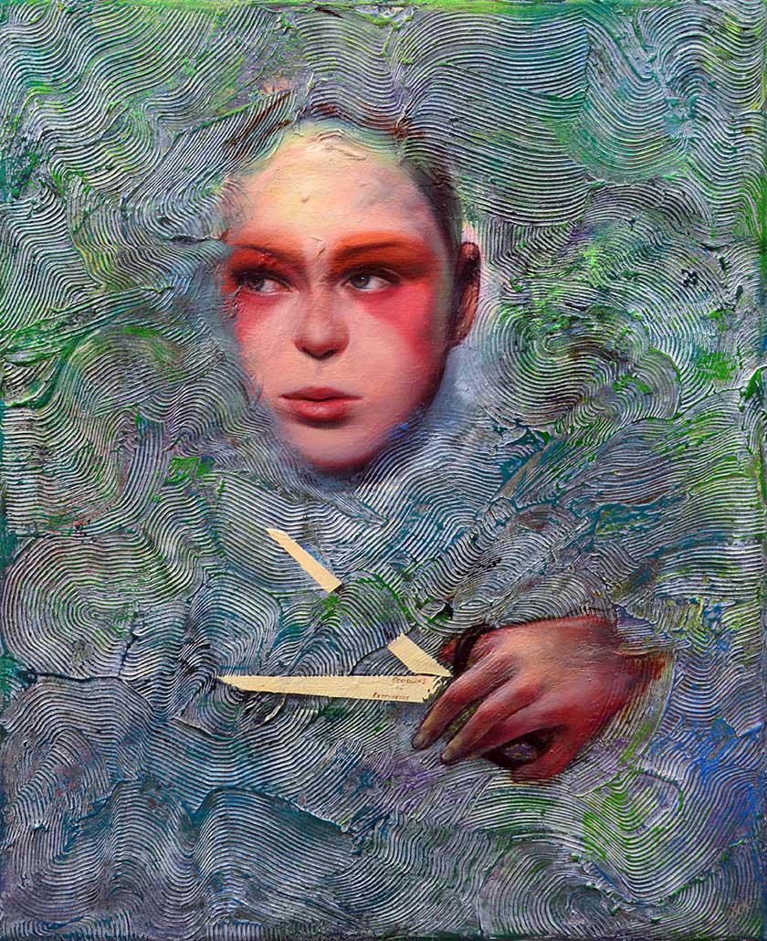 Theofilos Katsipanos, Untitled, oil on canvas, 30 x 24 cm, 2015
