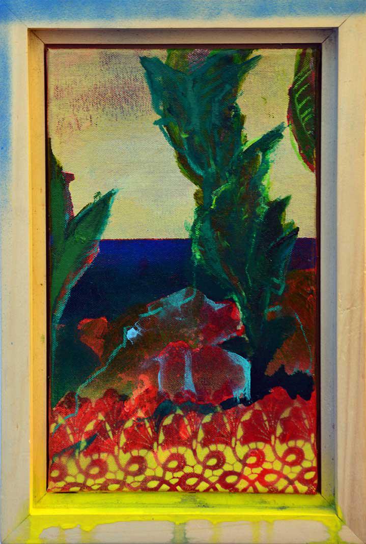 Manolis Charos, Untitled, mixed media on canvas, 36 x 24.5 cm, 2015