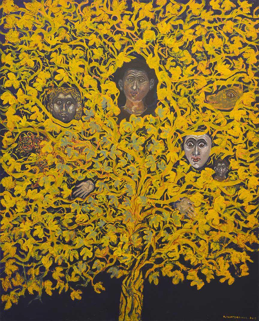 Tassos Mantzavinos, Untitled, oil on canvas, 160 x 130 cm, 2013