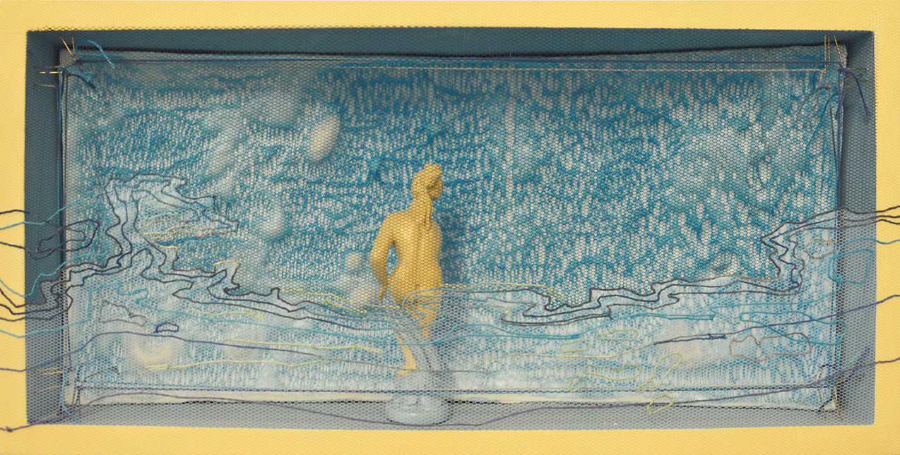 Dimitris Skourogiannis, Untitled, mixed media, 24 x 50 cm