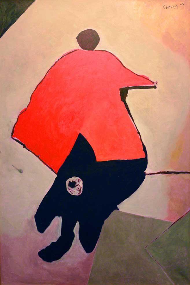 Yorgos Milios, Untilted, acrylics on canvas, 102 x 73 cm, 2009