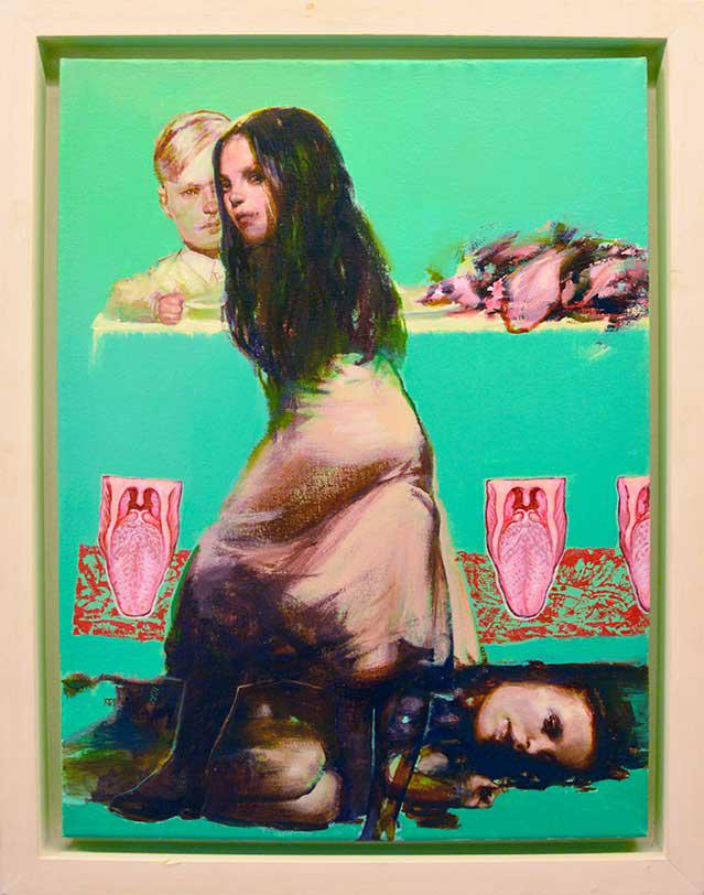 Tassos Missouras, Untitled, acrylics on canvas, 34.5 x 30 cm, 2014