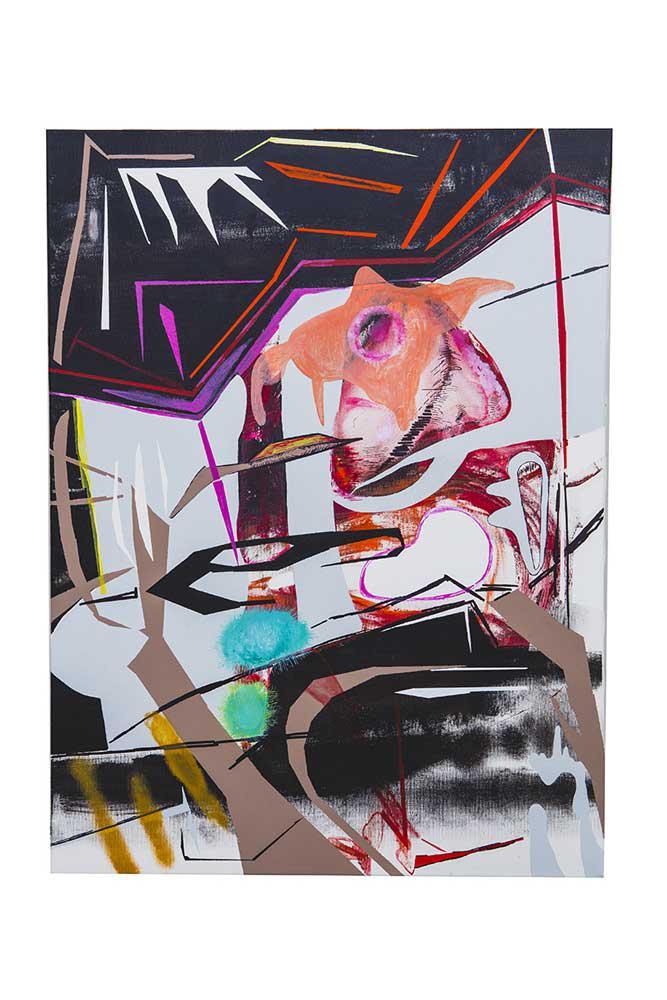 Bucrane, mixed media, 80 x 60 cm, 2016